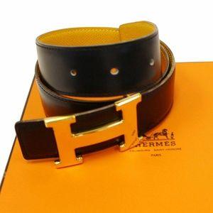 HERMES Belt Constance Buckle H Reversible Size 65